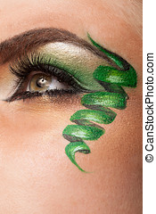 Eye with professional artistic make up