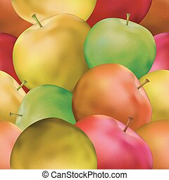 Background with Apples