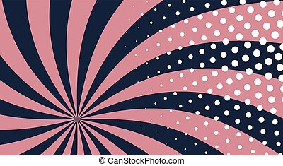 Leaflet - Popart comic abstract background with stripe. Pop...