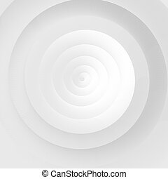 White spiral abstract background