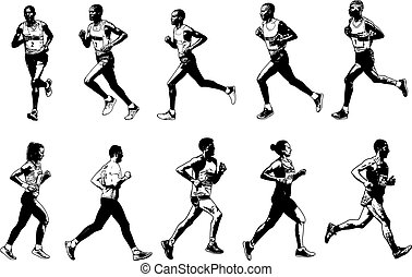 runners collection, sketch illustration