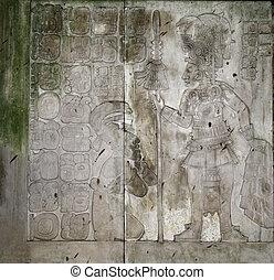 bajorrelieve, México, rey, Chiapas, Maya, Palenque,...