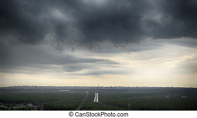 Storm Hangs Over City