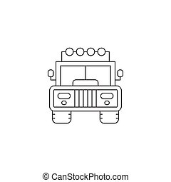 Jeep line icon - Jeep vector thin line icon. Isolated...