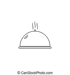 Dish line icon - Dish vector thin line icon. Isolated...