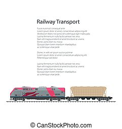 Brochure Locomotive with Hopper Car for Transportation...