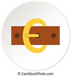 Gold oval buckle icon circle