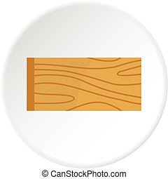 Wooden plank icon circle - Wooden plank icon in flat circle...