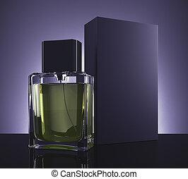 begrepp, manlig, parfym, berätta