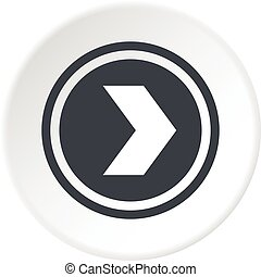 Arrow to right in circle icon circle - Arrow to right in...