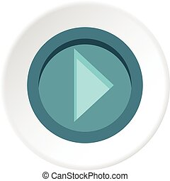 Cursor to right in circle icon circle - Cursor to right in...