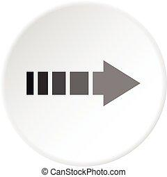 Cursor icon circle - Cursor icon in flat circle isolated...