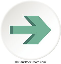 Arrow icon circle - Arrow icon in flat circle isolated...