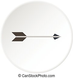 Long arrow icon circle - Long arrow icon in flat circle...
