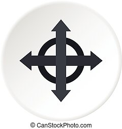 Arrows target icon circle - Arrows target icon in flat...