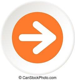 Arrow in circle icon circle - Arrow in circle icon in flat...