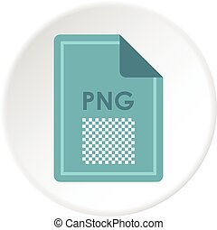 File PNG icon circle - File PNG icon in flat circle isolated...