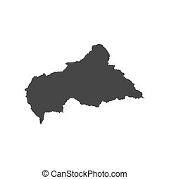 Central African Republic map on the white background. Vector...