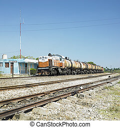 goods train, Jatibonico, Cuba - goods train, Jatibonico,...