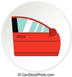 Car door icon circle