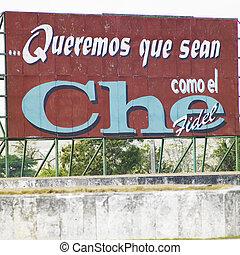 cuba, (che, politique, Clara, Santa, guevara), panneau...