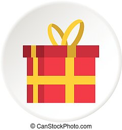 Gift in a box icon circle