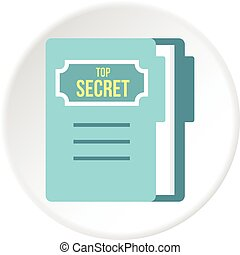 Notepad icon circle - Notepad icon in flat circle isolated...