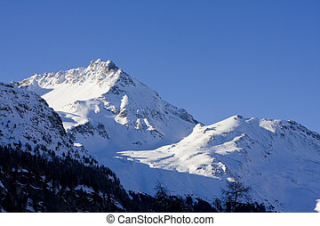 Mountains in the swiss alps - Beautiful landscape showing...