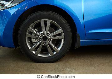 汽車, 邊緣, 金屬