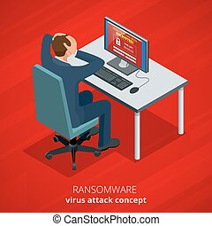 Ransomware, malicious software that blocks access to the...