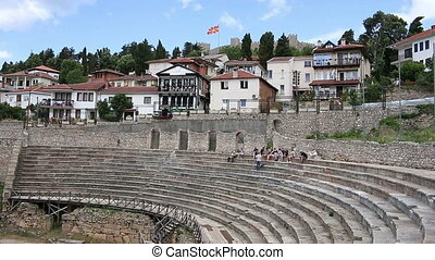 antique theater and fortress Ohrid Macedonia