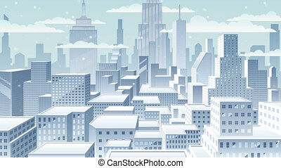 Cityscape Winter - Winter in the city.