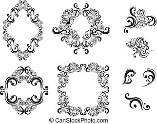 design elements - set of vector design elements isolated on...