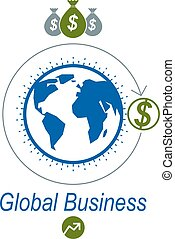Global Business creative logo, unique vector symbol created...
