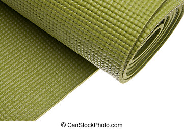 Green Yoga Exercise Mat - Green Yoga Exercise Mat, Partially...