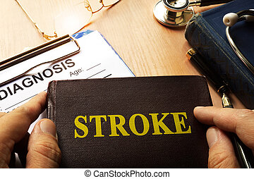 Book with name brain stroke disease.