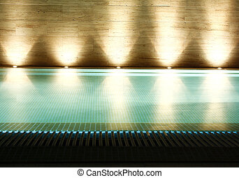 Swiming pool - Luxury swimming pool at night.