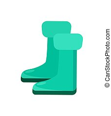 Garden rubber boots isolated vector icon