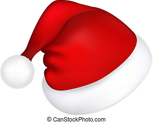 Santa Hat - Hat Santa Claus, Isolated On White Background,...