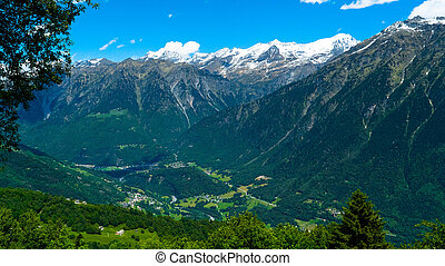 Environment in the Swiss mountains. Kanton Tessin. -...