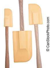 Spatula Background - Three Spatulas Isolated on White with a...