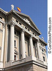 Barcelona - Gobierno Militar building - old landmark in...