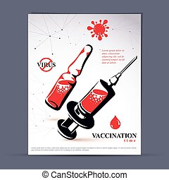 Children scheduled vaccination advertisement brochure....