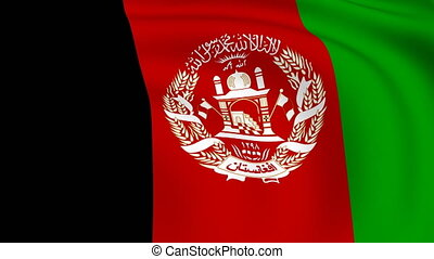 Flying Flag of Afghanistan | LOOPED |