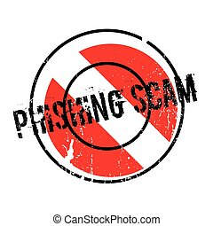 Phishing Scam rubber stamp. Grunge design with dust...