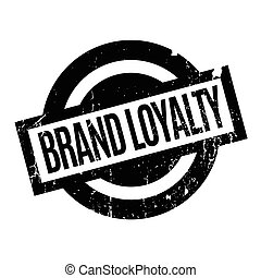 Brand Loyalty rubber stamp