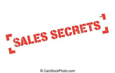 Sales Secrets rubber stamp