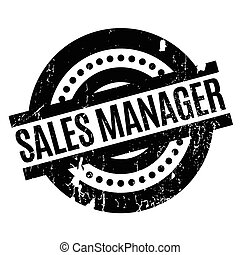 Sales Manager rubber stamp. Grunge design with dust...