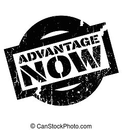 Advantage Now rubber stamp. Grunge design with dust...