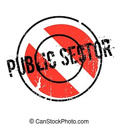 Public Sector rubber stamp. Grunge design with dust...